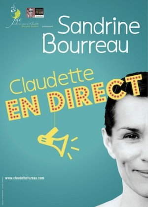 AFFICHE CLAUDETTE en direct Bleu - copie